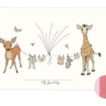 Fingeraftryk/fingerprints baby tøjsnor lyserød
