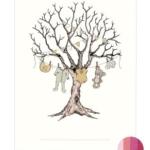 Fingeraftryk/fingerprint barnedåbstræ pink