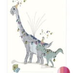 Fingeraftryk/fingerprint dino-party pink
