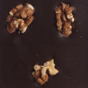Mørk chokolade med valnødder