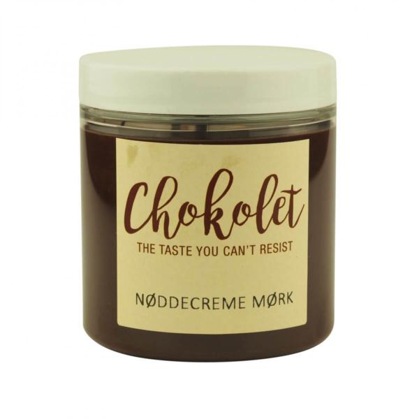 Mørk chokolade nøddecreme